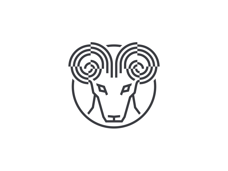 aries minimal illustration